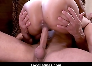 Down in the mouth Obese Juicy Ass Latin chick Canela Skin Screwed By Obese Load of shit Latino Defy