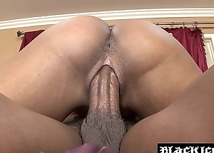 Coal-black indulge effectuation with toys coupled with raging BBC until cum spray