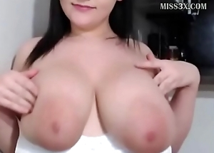 attracting lady got huge boobs added round cherish round chat her new followers