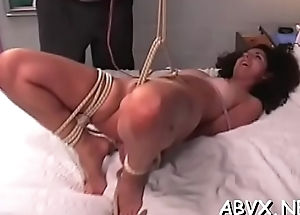 Flaming nude scourging together with amateurish extreme bondage porn