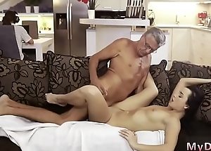 Teen realize old guy in shower together with violated by daddy What would you