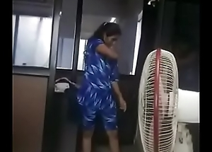 Indian Tamil unladylike adithi uncharted her listen to office infromt of her big wheel captured off out of one's mind her big wheel at last employees leave the office