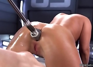 Fucking equipment anal pounds brunette